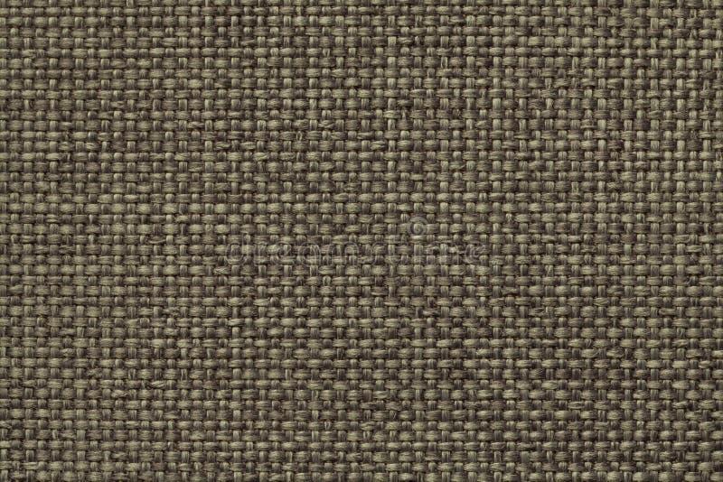 Groene achtergrond met gevlecht geruit patroon, close-up Textuur van de wevende stof, macro stock afbeelding