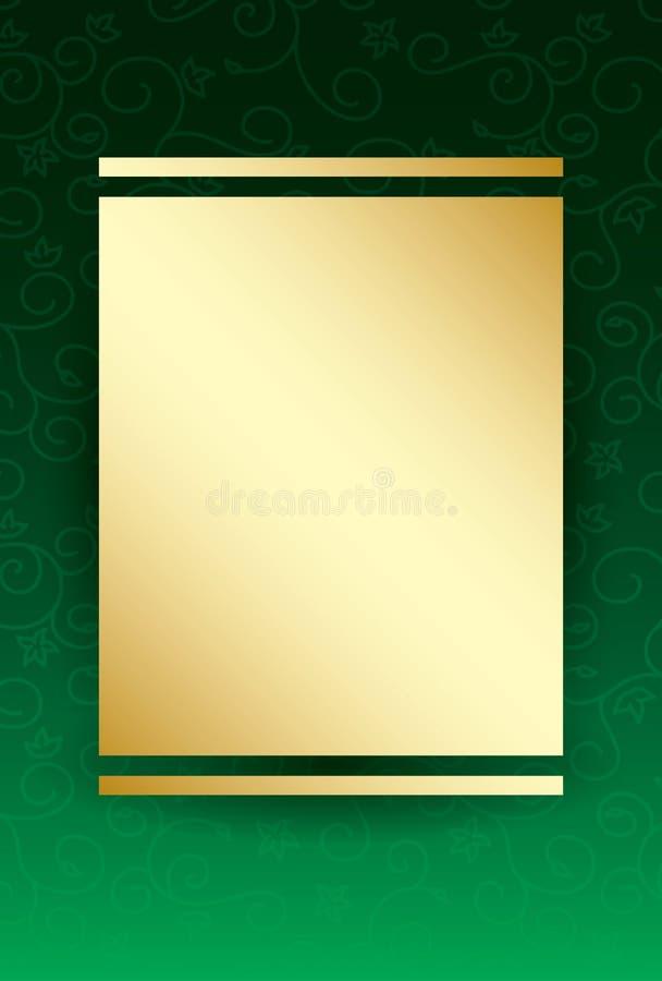 Groene achtergrond met gouden centrum vector illustratie