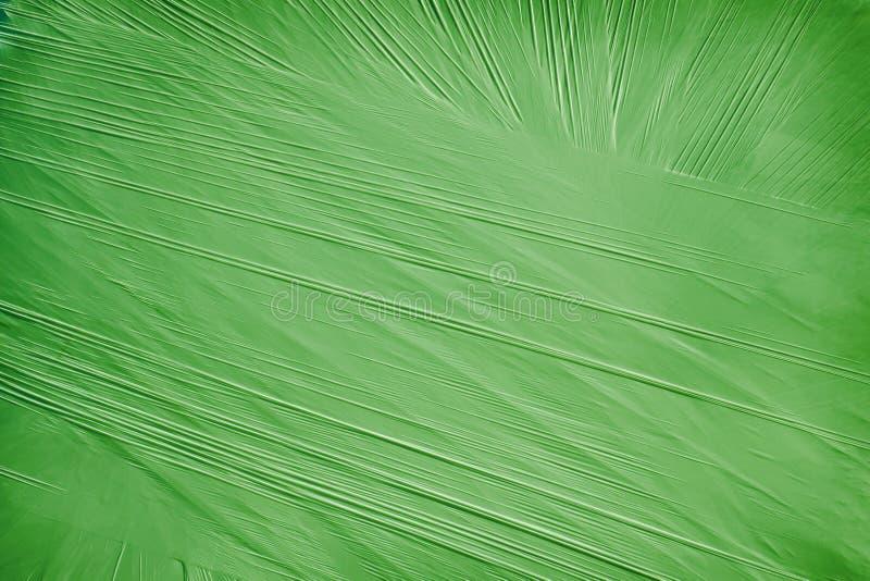Groene achtergrond van een verpakkingsmateriaal stock afbeelding