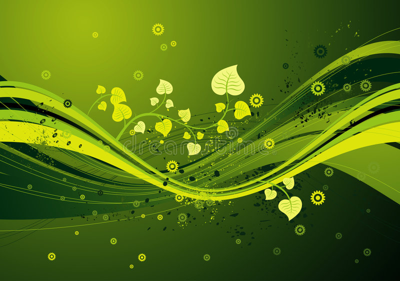 Groene achtergrond, vector stock illustratie