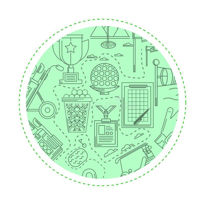 Groene achtergrond voor golf vector illustratie