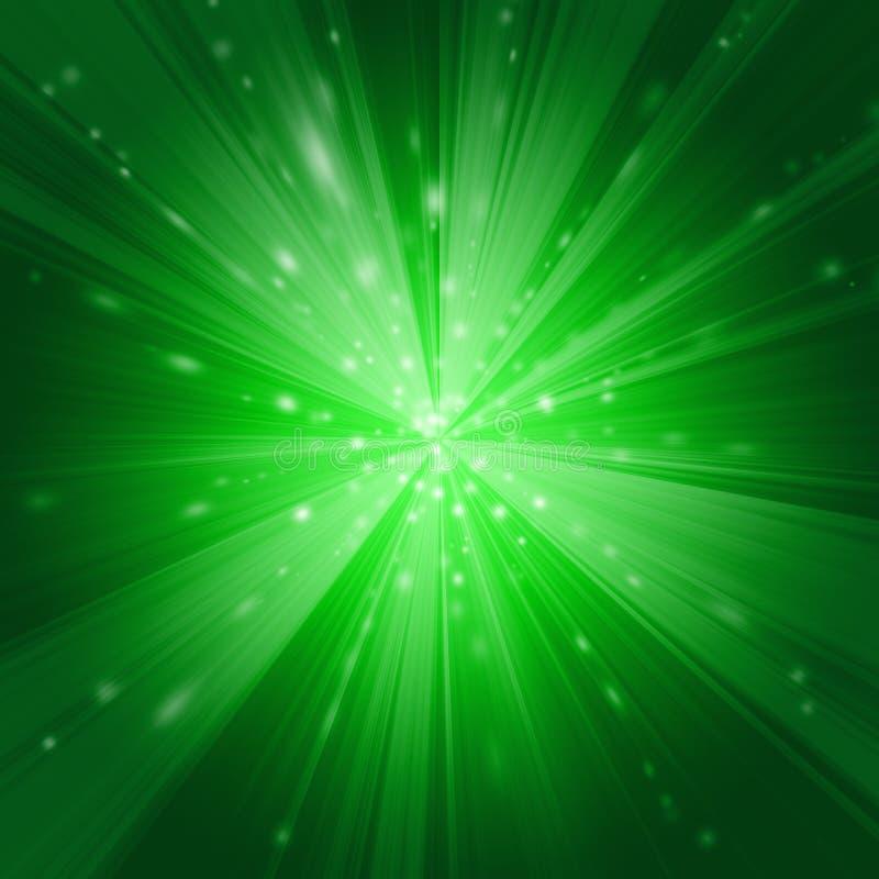 Groene Afwijking royalty-vrije illustratie