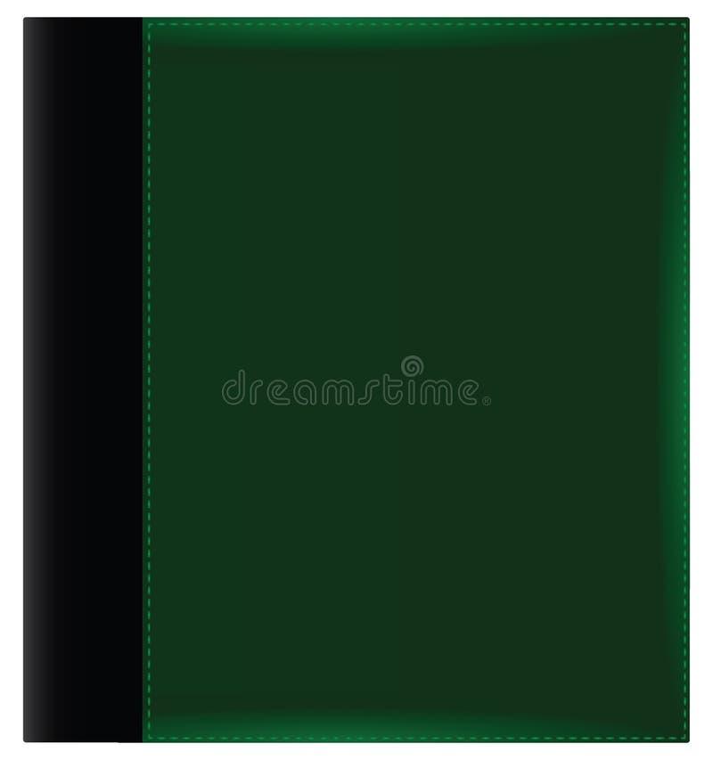 Groene albumdekking vector illustratie
