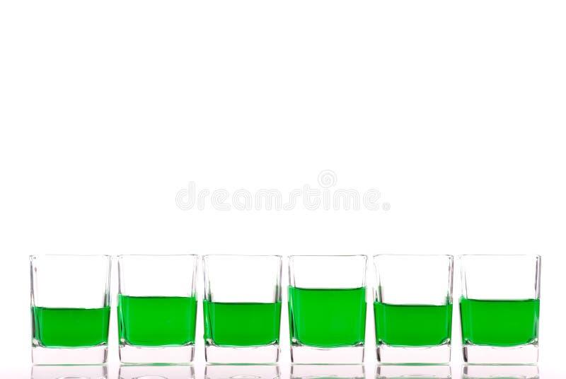 Groene Alcoholische drank stock foto's