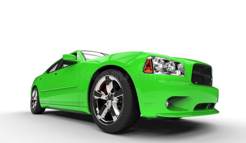 Groene Amerikaanse Auto stock illustratie