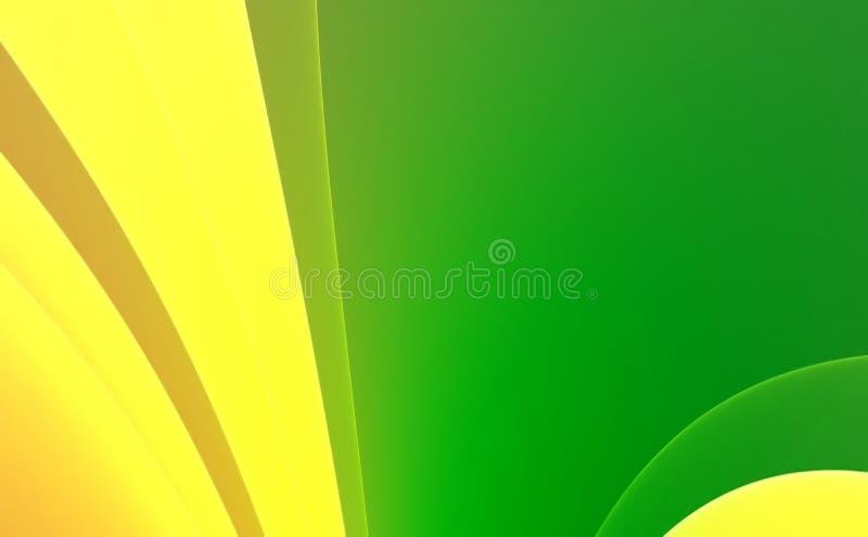 Groene & gele Abstracte achtergrond stock illustratie