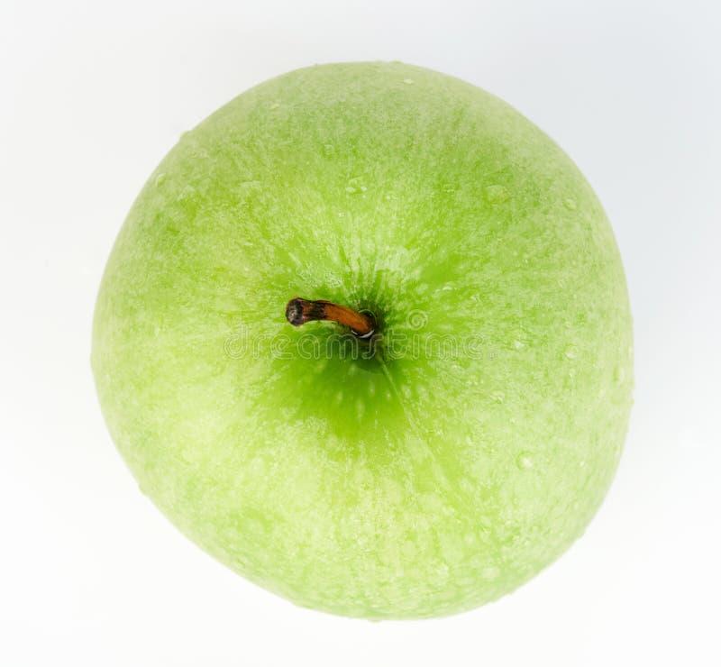Groene appel boven hoogste mening stock afbeelding