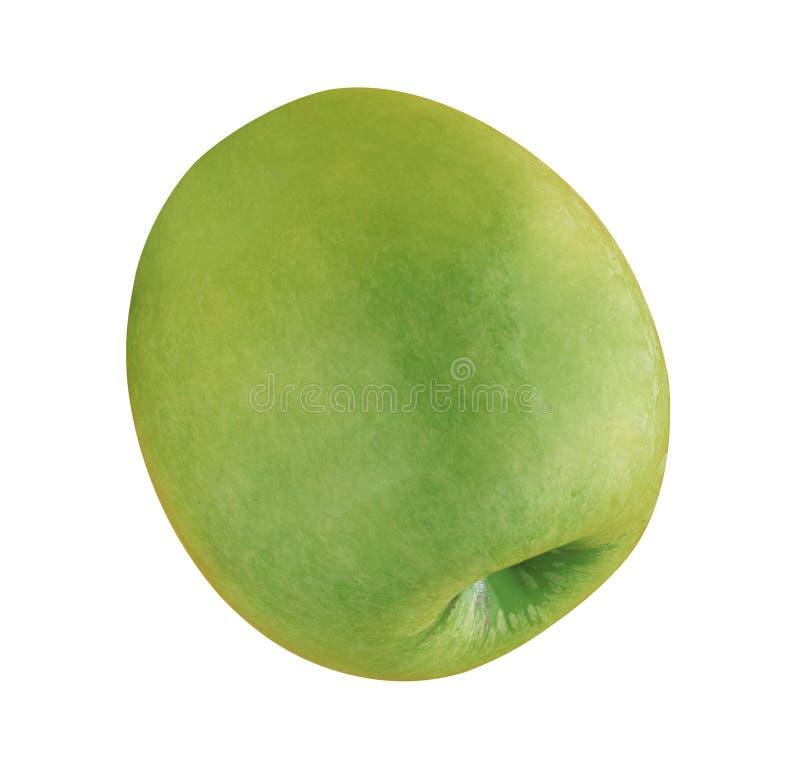 Groene Appel die op wit wordt geïsoleerde stock fotografie