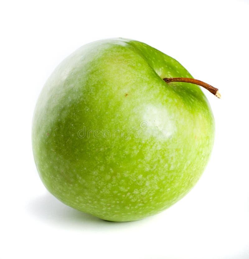 Groene appel op witte achtergrond stock foto