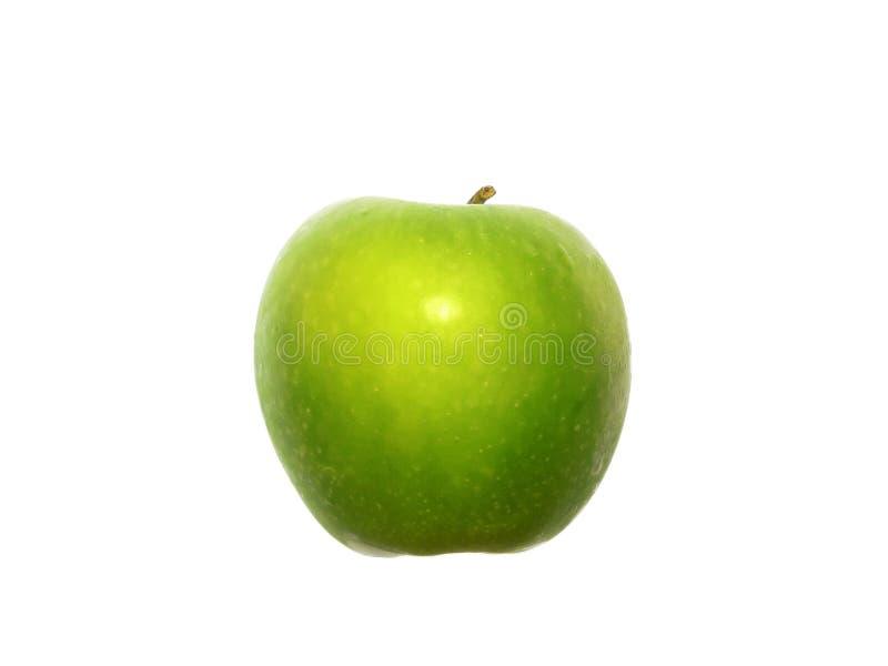 Groene Appel, zijaanzicht op wit royalty-vrije stock foto's