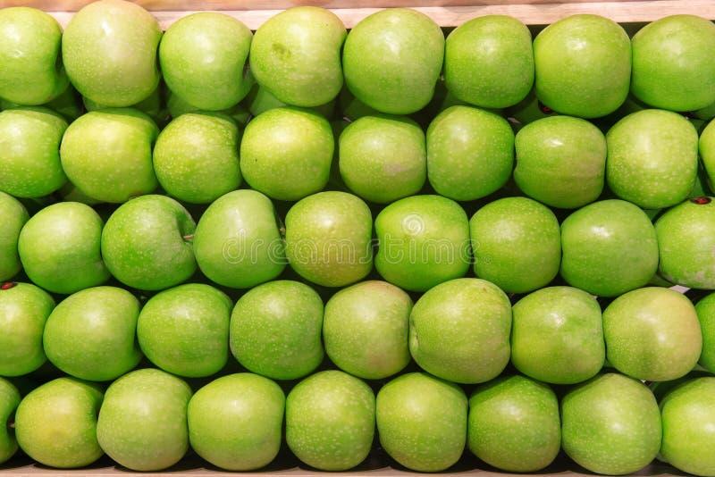 Groene appelachtergrond stock afbeeldingen
