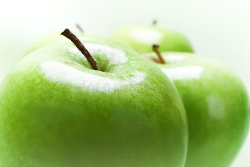 Groene Appelen stock foto's
