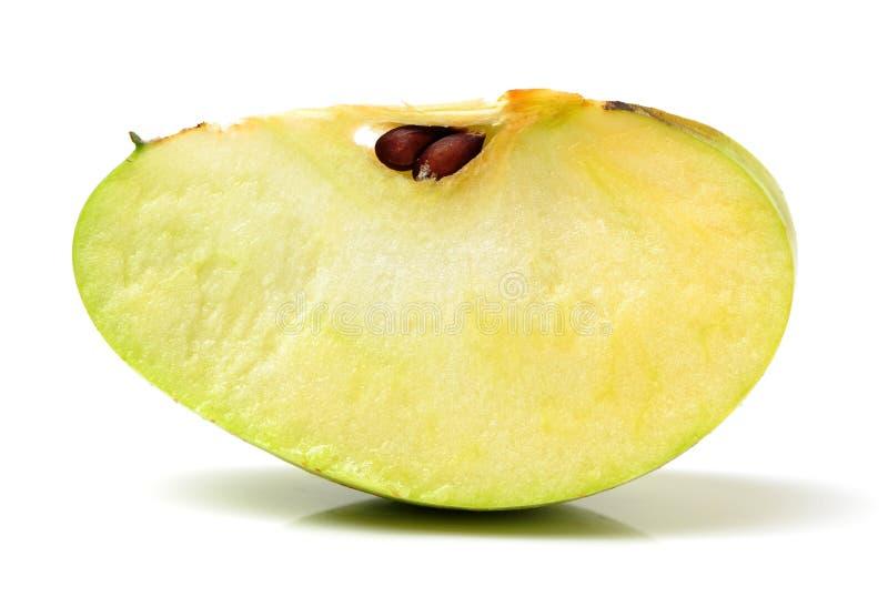 Groene appelvruchten met besnoeiing stock afbeeldingen