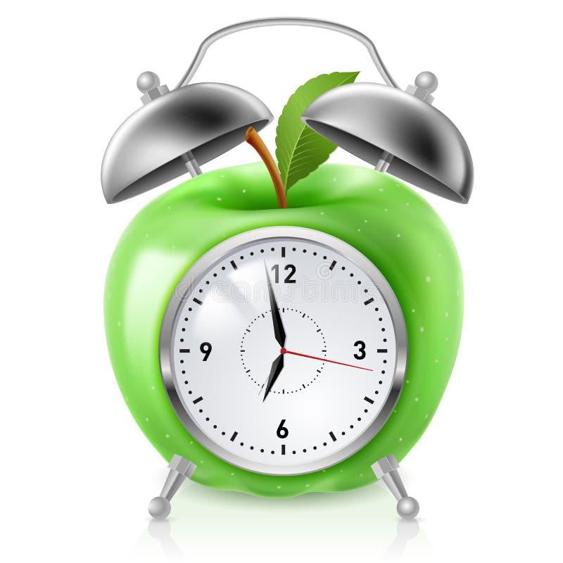 Groene appelwekker vector illustratie