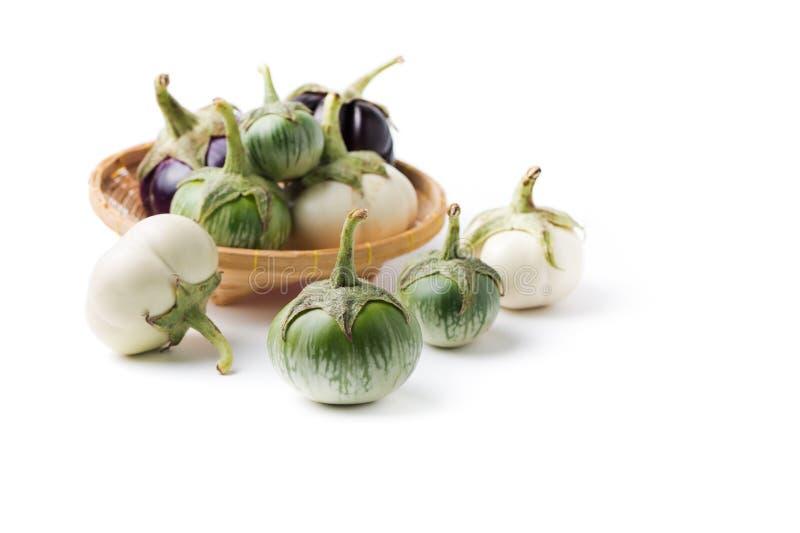 Groene aubergine stock foto's
