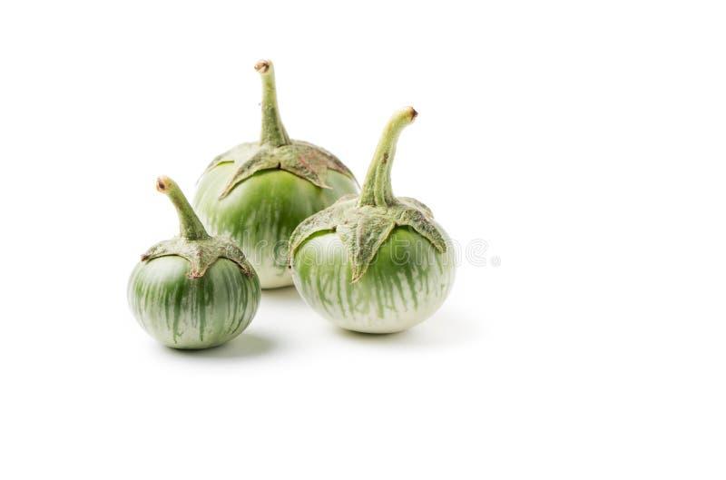 Groene aubergine stock afbeelding