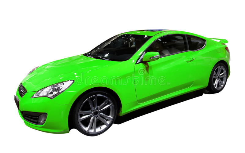 Groene auto royalty-vrije stock afbeeldingen