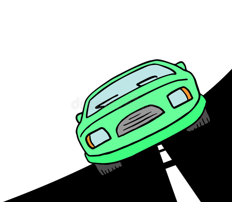 Groene auto vector illustratie