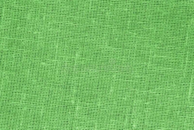 Groene backround - Linnencanvas - Voorraadfoto royalty-vrije stock foto