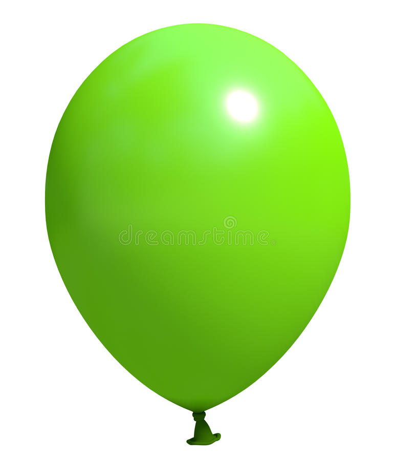 Groene ballon stock foto's