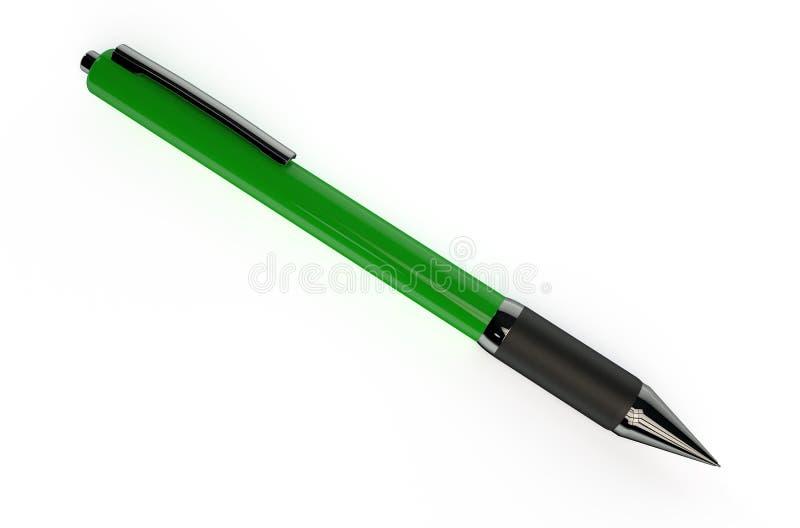 Groene ballpoint stock illustratie