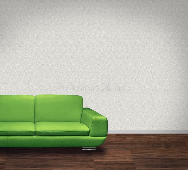 Groene bank in witte ruimte