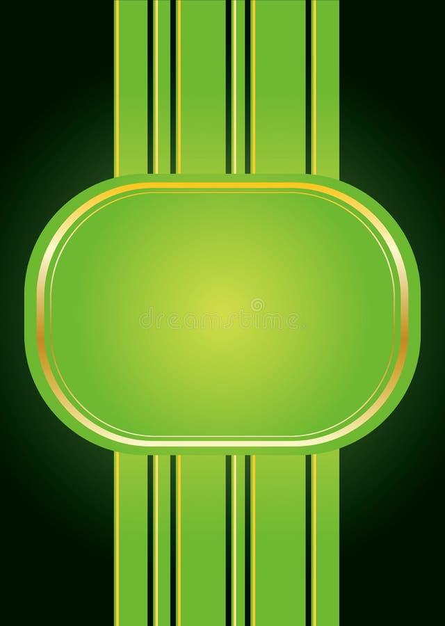 Groene banner vector illustratie