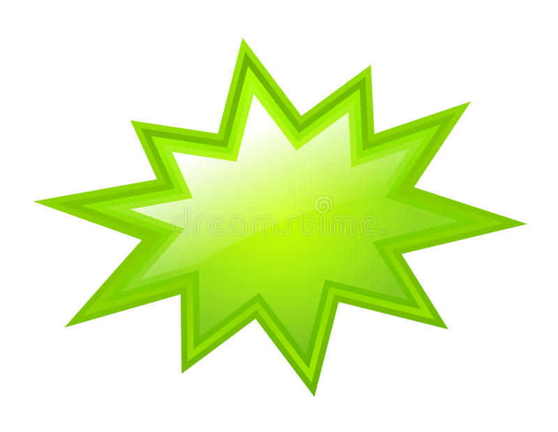 Groene barstende ster stock illustratie