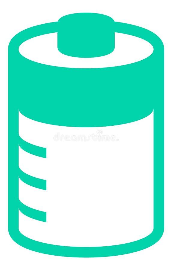 groene batterijvector met lastenniveaus stock foto's