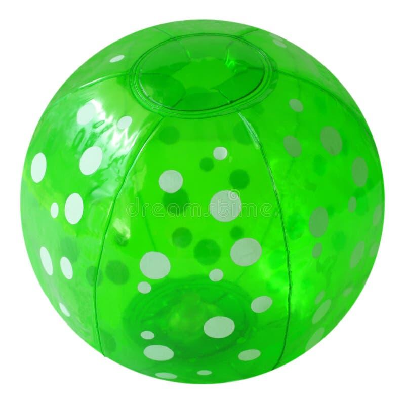 Groene beachball royalty-vrije stock foto's