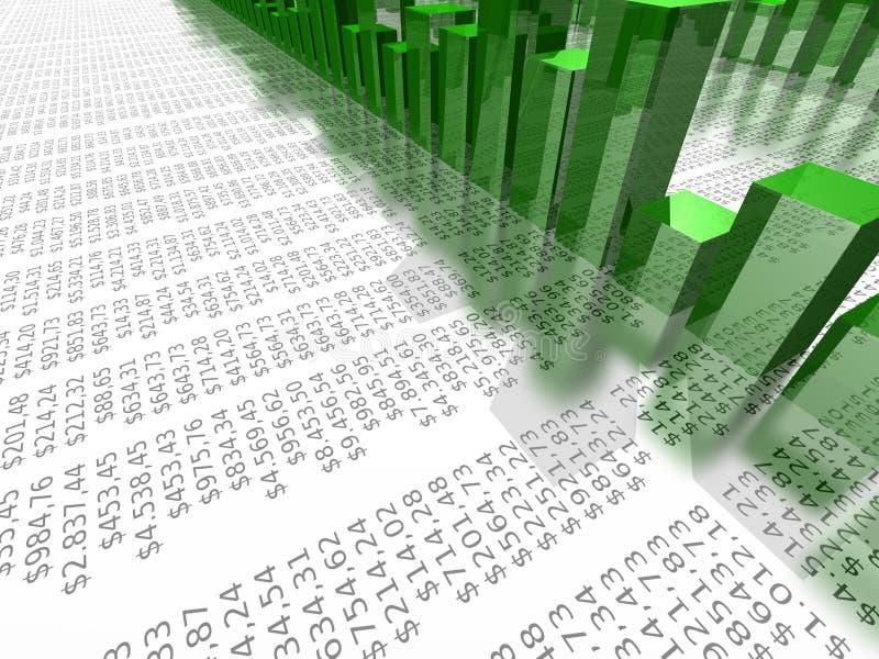 Groene bedrijfsgrafiekillustratie stock illustratie