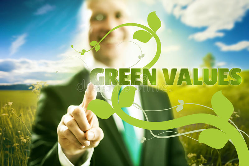 Groene bedrijfswaarden royalty-vrije stock fotografie