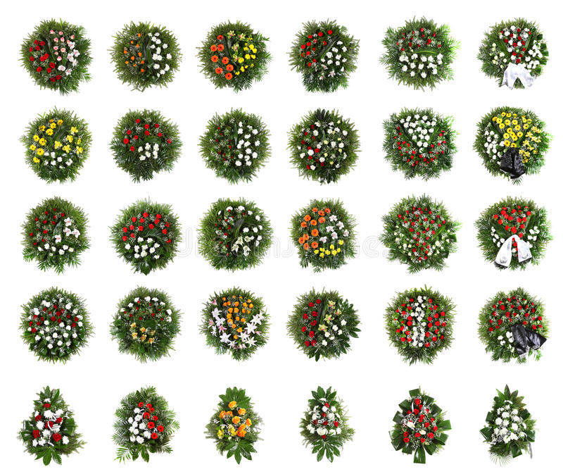 Groene begrafeniskroon royalty-vrije stock foto's