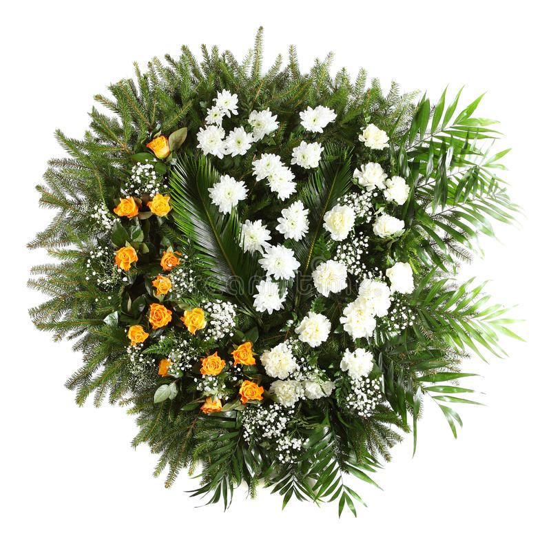 Groene begrafeniskroon royalty-vrije stock afbeeldingen