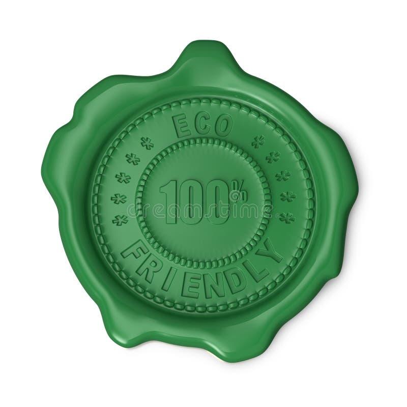 Groene wasverbinding stock illustratie