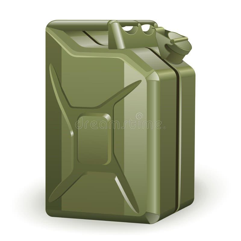 Groene benzinebus royalty-vrije illustratie