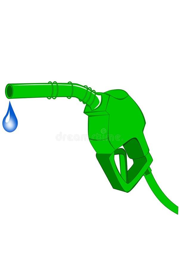 Groene benzinepomppijp stock illustratie