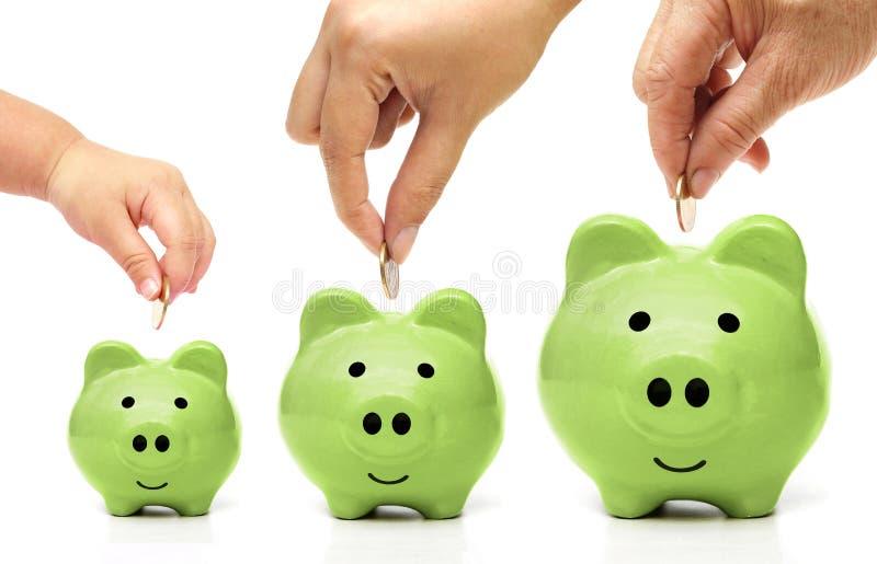 Groene Besparing royalty-vrije stock afbeelding