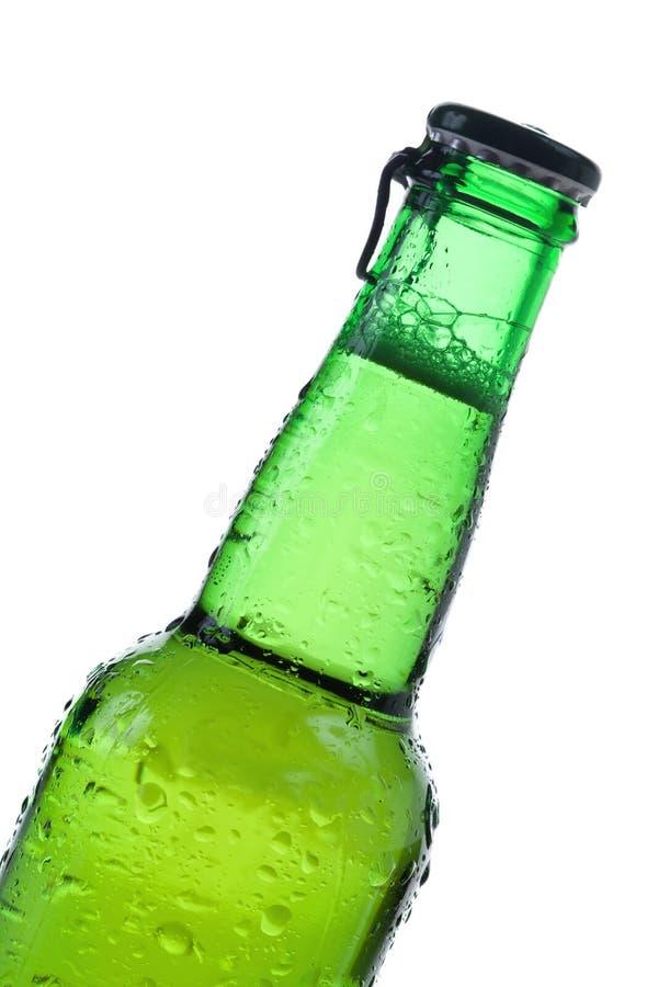 Groene bierfles stock fotografie
