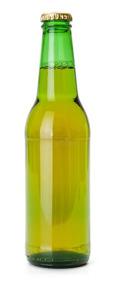Groene bierfles stock illustratie
