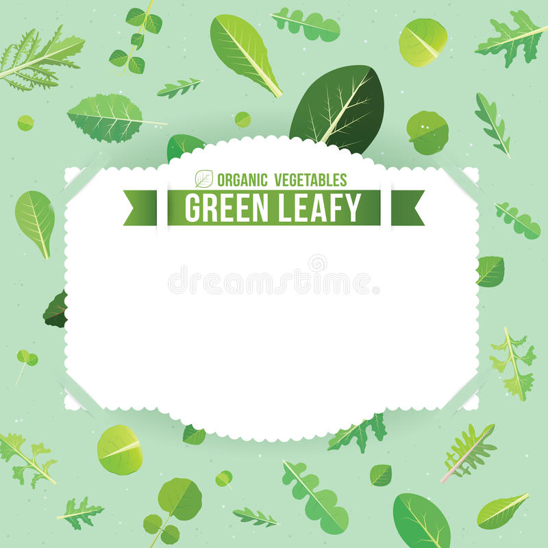 Groene blad royalty-vrije illustratie