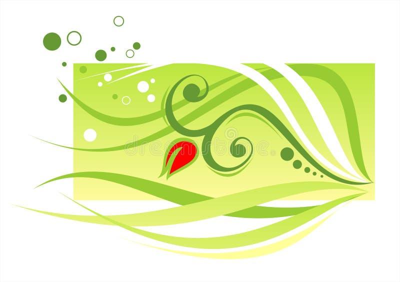 Groene bladeren stock illustratie