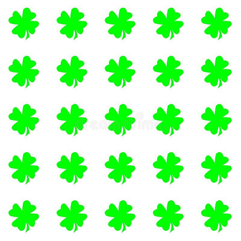 Groene bladeren die op de witte achtergronden van achtergrondherhalingskaarten worden geïsoleerd vector illustratie