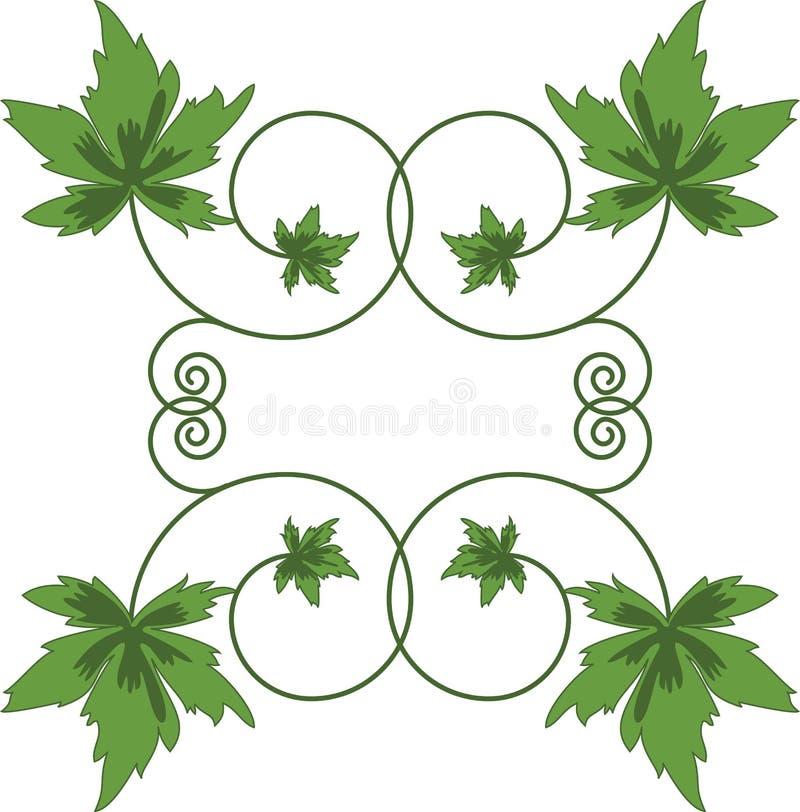 Groene bladeren op witte achtergrond. royalty-vrije illustratie