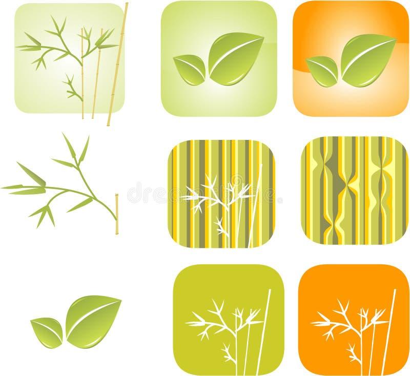 Groene bladreeks vector illustratie