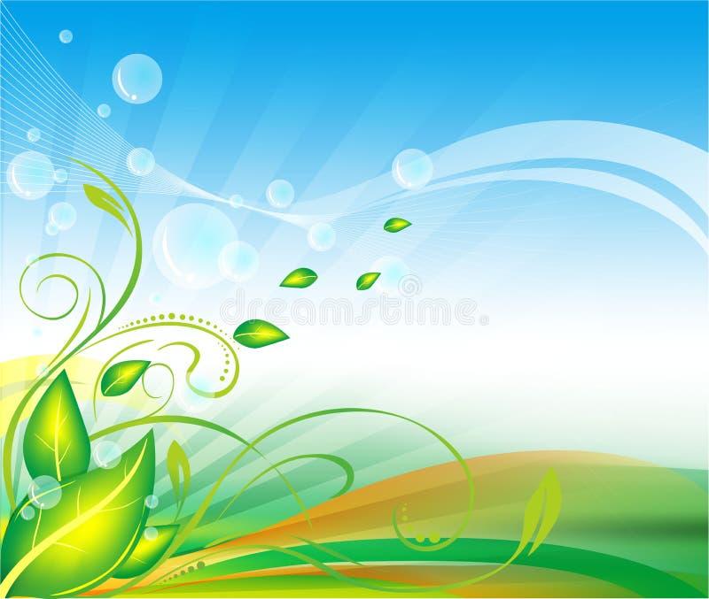 Groene bladvector als achtergrond royalty-vrije illustratie