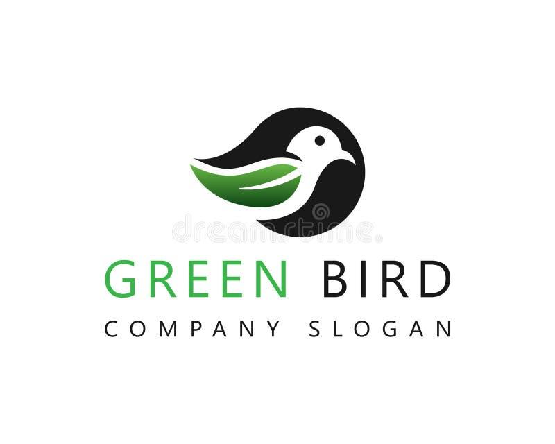 Groene Bladvogel Logo Icon vector illustratie