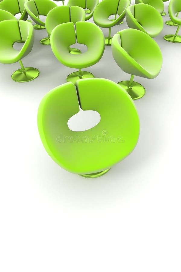 Groene bloem-als stoelen royalty-vrije illustratie