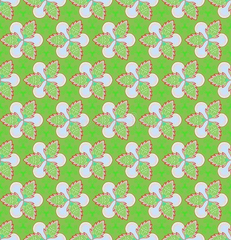 Groene bloem en klimop op groene achtergrondkerstmis naadloze patronen stock illustratie