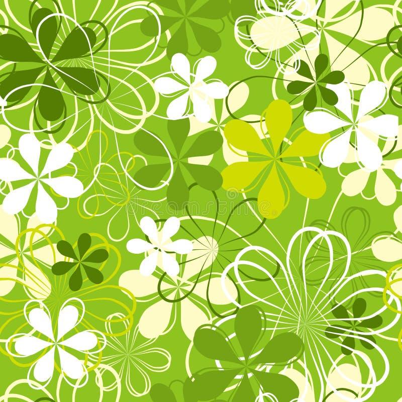 Groene bloem naadloze achtergrond royalty-vrije illustratie